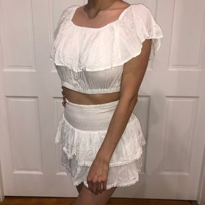 💕 NEW RARE XS Victoria's Secret Crop Top White